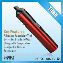 original smooth inhale BUDDY TITIAN-1 portable dry herbal vaporizer pen