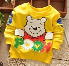 Alibaba fashion children cartoon clothes autumn/winter long sleeve bear design cute kids t-shirt