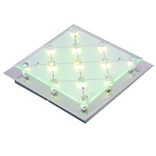 Rectangular crystal led ceiling mount lamp