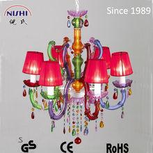 2014 newest europen multicolor crystal chandelier cheap wholesale (NS-120070)