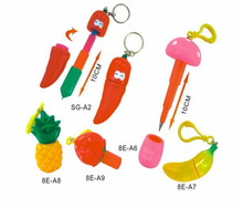 Cartoon cheap plastic fruits shaped ballpoint pen