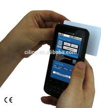 smartphone rfid uhf reader with uhf ,hf rfid reader , wifi ,3G (IP65,4000mAH battery)