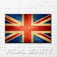 Creative United Kindom Flag Canvas Art Print Promotional Gift