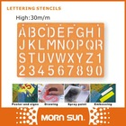 30m/m capital letters and number the stencil