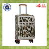 best selling 4pcs pu leather wheeled girls travel luggage