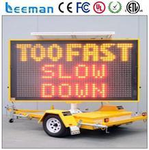 traffic led display solar vms trailer shenzhen led supplier/mobile vehicle advertising led video board p12mm led