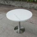 Blanco de la esquina de la mesa de la cocina, ronda de cocina juegos de mesa