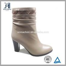 Italian half cut fashion boots leather lady shoe