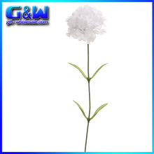 """Vintage silk flowers carnation varieties new decorators White 17"""" Tall with a 3"""" artificial flower factory direct"""