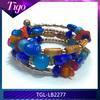 2014 mixed acrylic beads and glass beads bali friendship bracelet