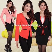 2014 nova chegada fashionablewomen uniforme escritório estilo/mulheres uniforme escritório estilo/escritório de negócios uniforme de projetos