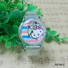 30 Various designs transparent plastic cheap children watch