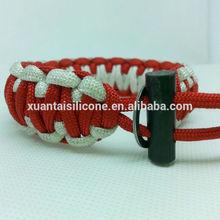 Manufacturer supply New style mix vogue 2 color paracord survival kit bracelet
