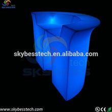 2014 Hot sale LED corner bar table, LED bar counter, led glowing table