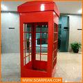 La cabina telefónica/cabina telefónica roja/antiguo teléfono de cabina