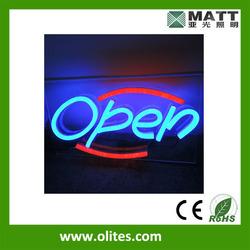 LED open neon sign for shop decoration 45x23cm