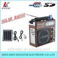 de emergencia portátil de radio solar con luz led