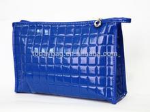 Newest travle leather cosmetic bag custom PU leather bag cosmetic bag