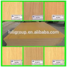 3mm beech Melamine MDF and beech melamine Medium Density Fiberboard