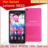 "5"" pink Lenovo S850 MTK6582 Quad Core Android 4.4 13mp 1GB RAM IPS Screen dual sim phone"