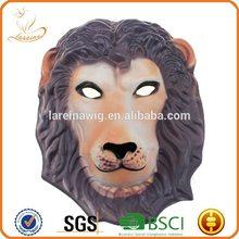Factory cheap price Halloween brown hair lion head EVA cute party masks for men