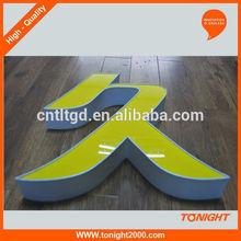 Full lighted 3D plastic led acrylic letters