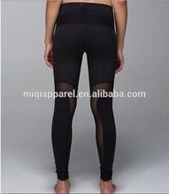 New designed sport pants with mesh, yoga leggings made of shrink yoga apparel