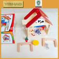 Grossista coloridos de madeira personalizada dados, madeira mini móveisbrinquedos
