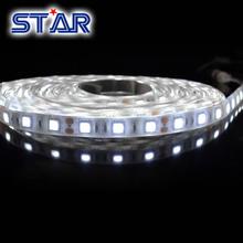 Illuminazione esterna 5050 colla epossidica impermeabile ip65 60leds/m 300 led/rotolo striscia flessibile con dc12v e bianchi fpc