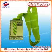 The chinese traditional martial arts gold metal tag medal with neck ribbon