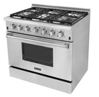 CSA Approved Range 6 Burner Gas Cooker With Oven Commercial Hotel & Kitchen Equipment