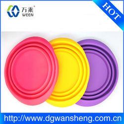 Food Grade Safe Silicone Folding Dog Feeding Bowl /Silicone Pet Bowl