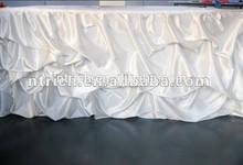 Wedding decoration satin ruffled table skirt