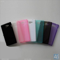 clear transparent back cover mobile phone shockproof bumper case for Sony S50H M2