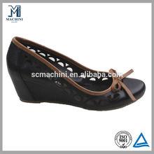 2013 high quality cow leather high heel dress shoe lady leather shoe