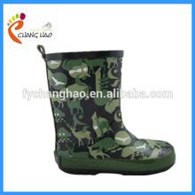 fashion kids camo rubber rain boots