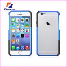 Contrast double color mobile phone bumper for iphone 6 bumper case
