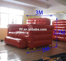 new design custom 3M long pvc giant inflatable air sofa