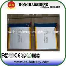 357090 polymer 3.7v 2500mah digital camera battery