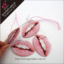 Guangzhou lip shape for production sexy car air freshener