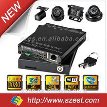 1080P HD 4ch 3G+ WiFi+GPS SD card h 264 dvr free CMS software