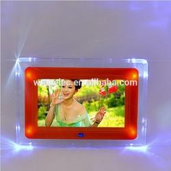 POP acrylic led light digital photo frame/acrylic led light digital photo frame manufacturer