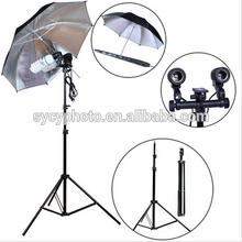 NEW PHOTOGRAPHIC EQUIPMENT Photo Studio Light Stand Reflective Umbrella Flash B-Mount set -Wholesale/ Retail [AKT014]