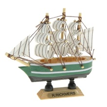 3cm*10cm*10cm Handcraft wooden model sail boat model ship