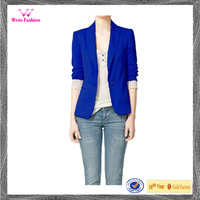 Latest blazer design women fashion one button suit blazers