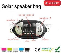 High quality sounds solar speaker bag