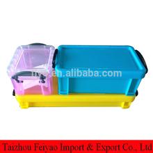 Pretty rectangle plastic sundries storage small crate
