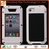 Metal Aluminum Shockproof Gorilla Glass waterproof mobile phone case for iphone 6
