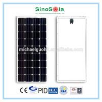 monocrystalline silicon solar module with TUV/IEC61215/IEC61730/CEC/CE/PID