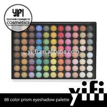 2014 Hot sale! Oem accept easy to wear 88 bright eyeshadow waterproof yellow eyeshadow kits